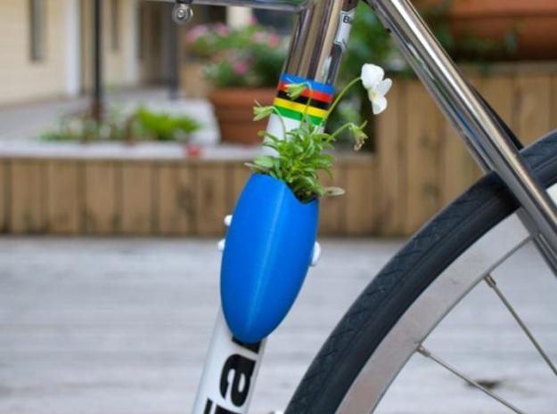 "A Planter for Your Bike 3d printed ""Foliage on Your Fixie"""