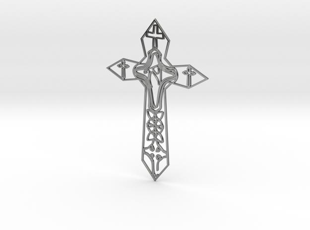 Personalised Enneper Cross Artwork in Fine Detail Polished Silver