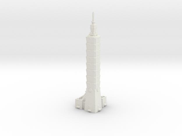 Taipei 101 - Taipei (1:4000) in White Natural Versatile Plastic