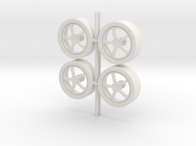 Wheels 5-spoke in White Natural Versatile Plastic
