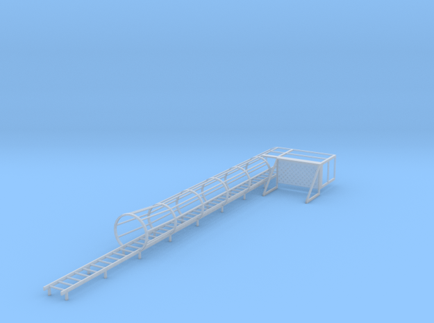1/64 Ladder and cage with platform Right in Smooth Fine Detail Plastic