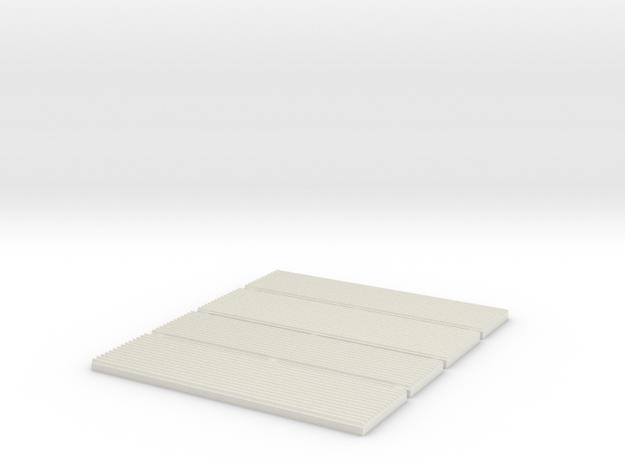 Corrugated Sheet Die - 1:48 - V3 in White Natural Versatile Plastic