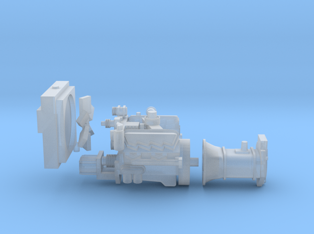 1/64 3208 Engine with 10 Speed Transmission in Smooth Fine Detail Plastic