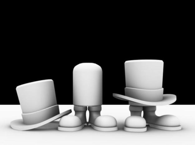 Well Hatted Gentleman in White Strong & Flexible