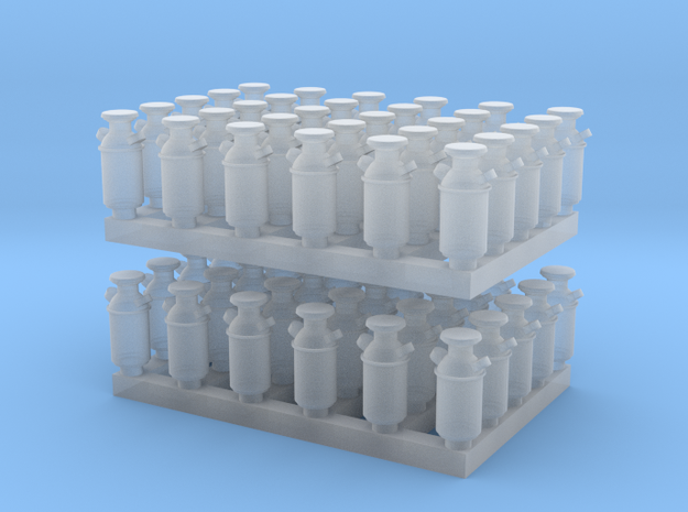 1:160 Milk Cans V2 - 60ea in Smooth Fine Detail Plastic