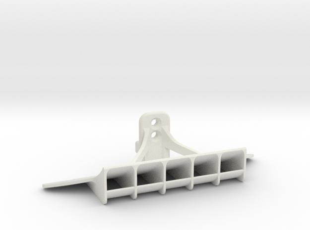 Mini-Z GL racing rear diffuser for McLaren in White Natural Versatile Plastic