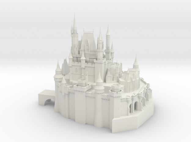 disney_castle (test) in White Natural Versatile Plastic