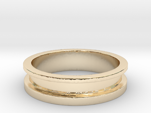 Tunnel in 14K Yellow Gold