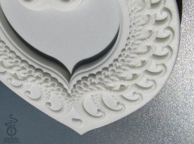 Fractal Heart Candy dish 3d printed