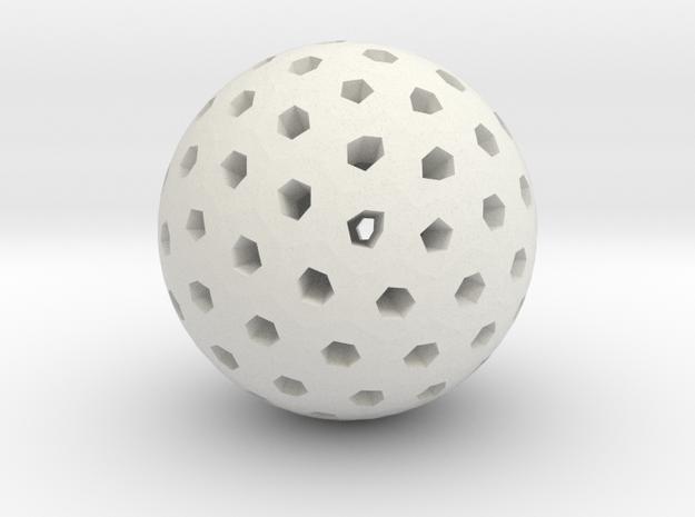 Polyhedron Pendant III in White Natural Versatile Plastic