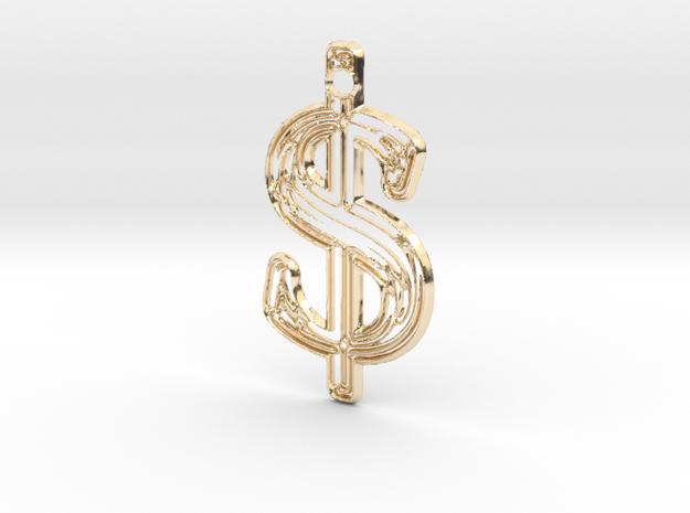 Dollar 1 in 14K Yellow Gold