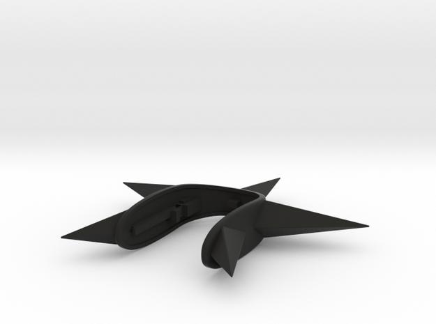 STAR KEY FOB  in Black Natural Versatile Plastic