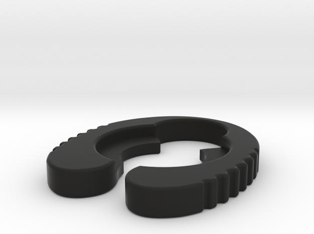 Genoa 20mm - Atty Gripper in Black Natural Versatile Plastic