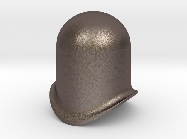 L&B-style dome to fit 16mm-scale locomotives in Polished Bronzed Silver Steel