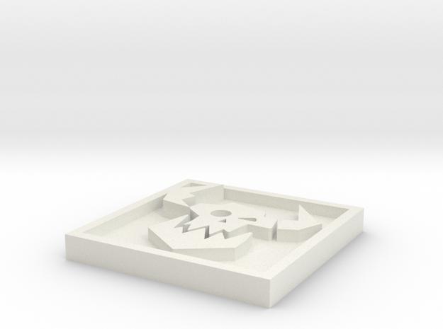 Ork_Icon_15mm in White Natural Versatile Plastic