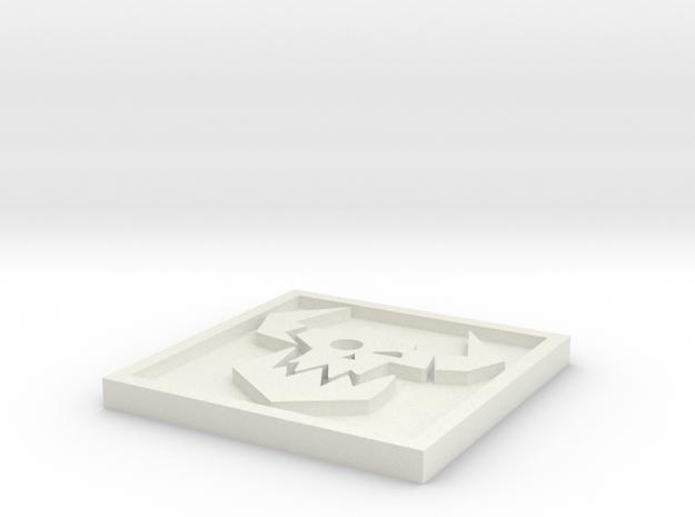 Ork_Icon_40mm in White Natural Versatile Plastic