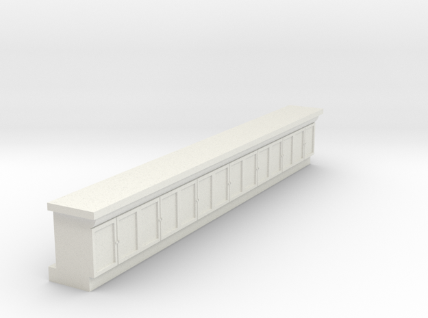 Waffle House Counter HO 87:1 Scalte in White Natural Versatile Plastic