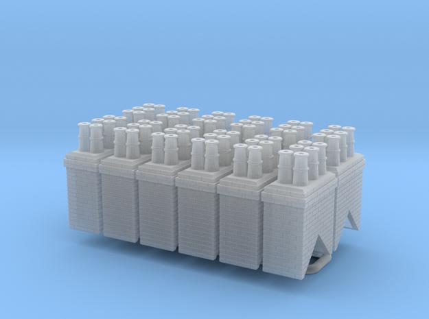 Chimney Stack Type 4 x 12 - UK N Scale - V2