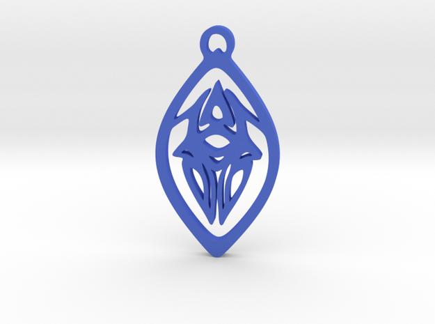 Squid Pendant in Blue Processed Versatile Plastic
