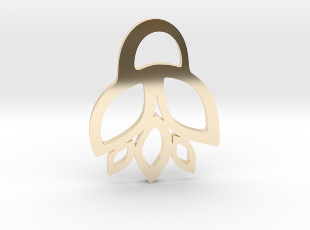 Lily Pendant in 14k Gold Plated Brass