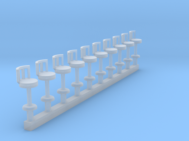 Waffle House Stools(10) HO 87:1 Scale in Smooth Fine Detail Plastic