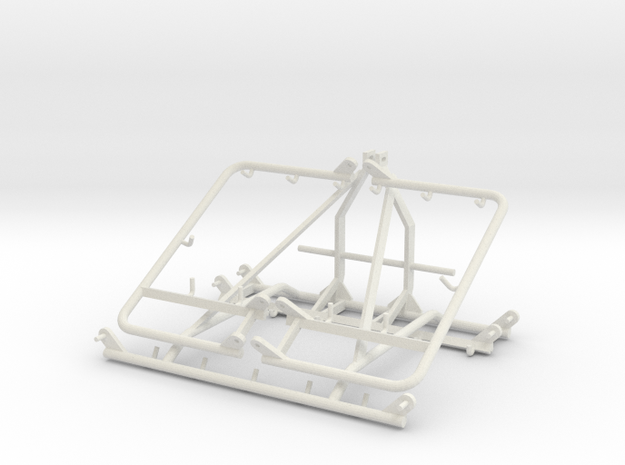 Chain Harrow 1/32 Middle - 3 Point Frame in White Natural Versatile Plastic
