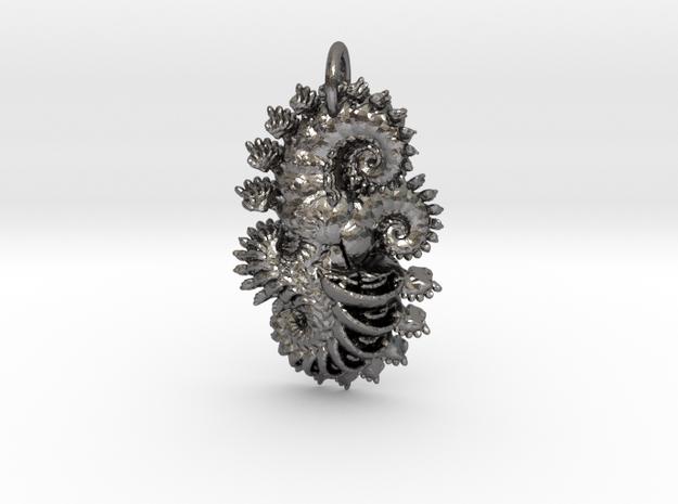 IF Sphiral Pendant in Polished Nickel Steel