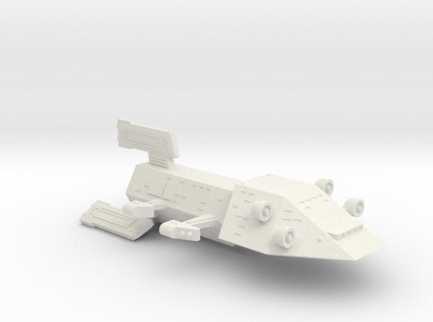 3125 Scale Kzinti Drone Cruiser SRZ in White Strong & Flexible