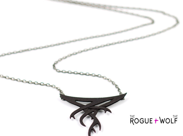 "The ""Forget"" necklace 3d printed"