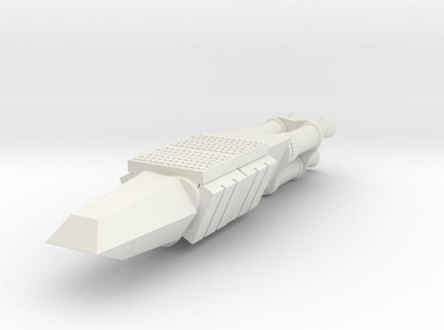 Space Raider in White Natural Versatile Plastic