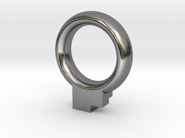 Fibonacci's Ring in Polished Silver: 11.5 / 65.25
