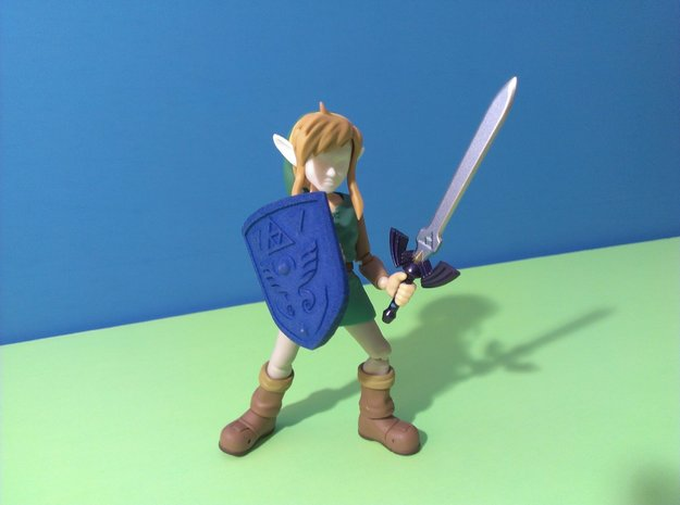 Link to the Past Shield for Figma in Blue Processed Versatile Plastic