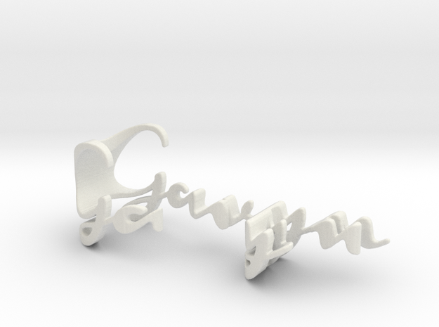 3dWordFlip: Gavyn/Cole in White Natural Versatile Plastic