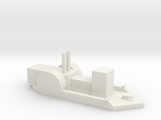 Confederate Gunboat in White Natural Versatile Plastic