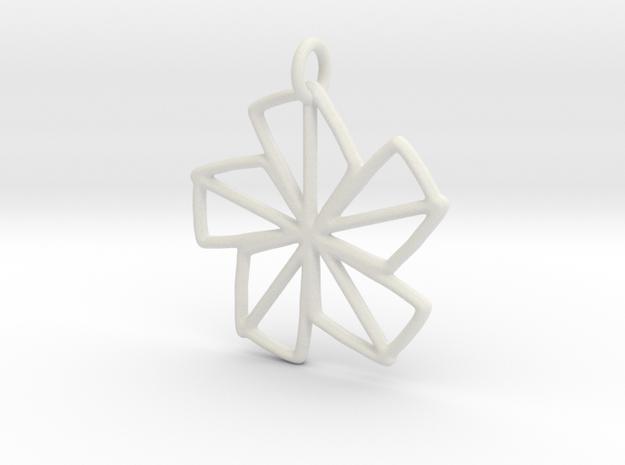 Dainty Flower - 30mm in White Natural Versatile Plastic