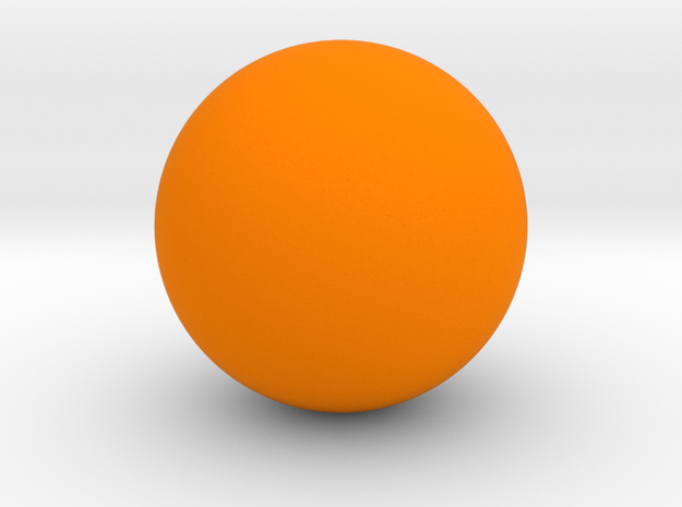 Sphere in Orange Processed Versatile Plastic