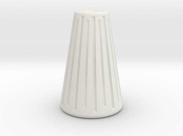 Cone Bead in White Natural Versatile Plastic