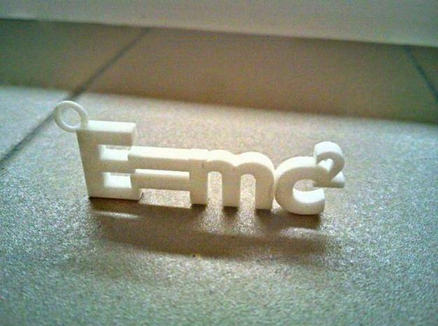 E = mc2 (small version) in White Natural Versatile Plastic