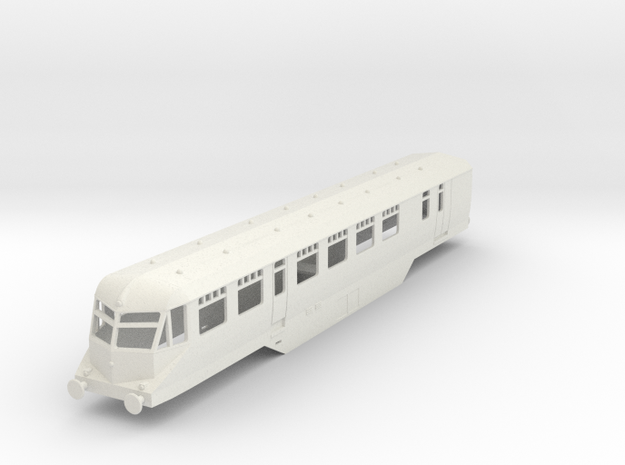 0-87-gwr-railcar-33-1a in White Natural Versatile Plastic