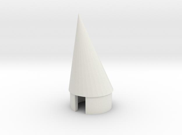 BT 20 Pod nosecone in White Natural Versatile Plastic
