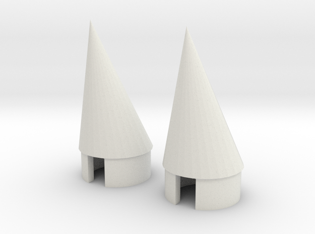 BT 20 Pod nosecone 2EA in White Natural Versatile Plastic