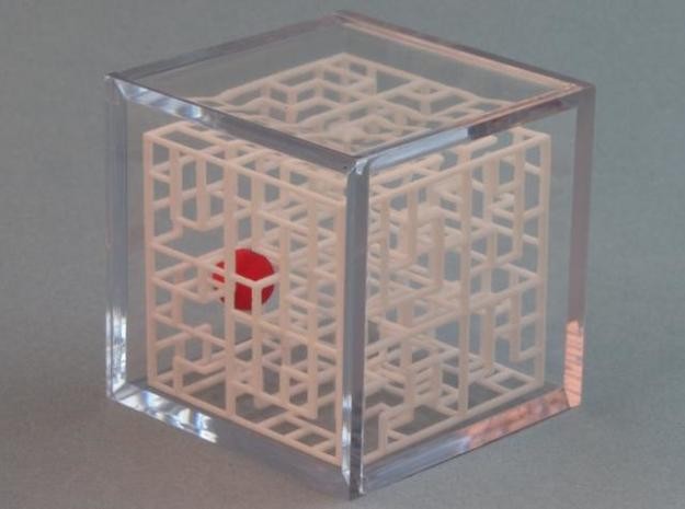 Maze Mix-pack 2 - 666,777 3d printed In Display Case - Sold Separately