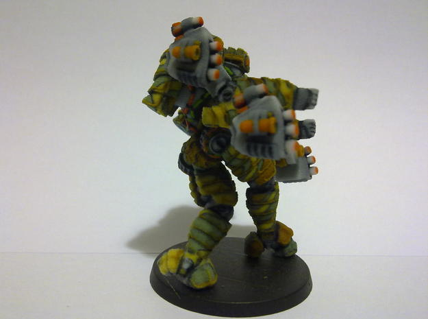 Mech suit with missile pods (11) 3d printed Side