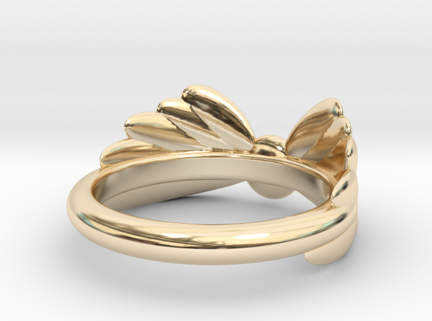 Arcangel Ring UK Size J in 14k Gold Plated Brass