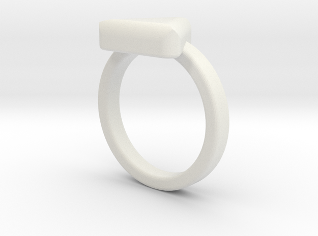 TriRing Jewel in White Natural Versatile Plastic