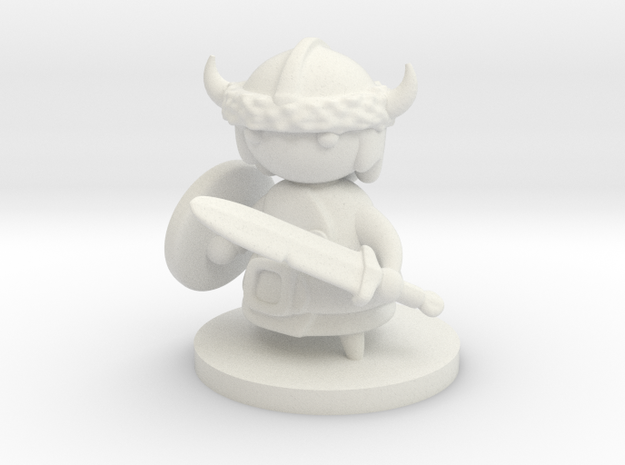 Viking in White Natural Versatile Plastic
