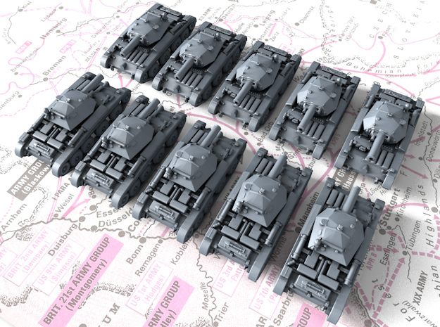 1/600 British Covenanter Light Tank x10 in Smoothest Fine Detail Plastic