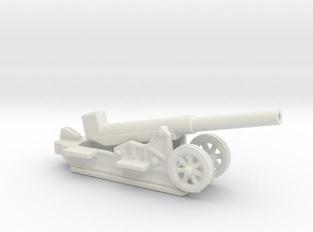 Canon 220L Schneider Model1917 1/72  ww1 artillery in White Natural Versatile Plastic