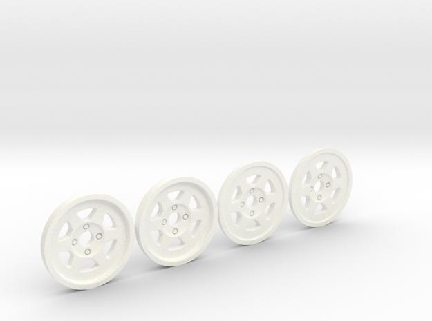 Tapacubos Metro 6r4  llanta de 19mm in White Processed Versatile Plastic