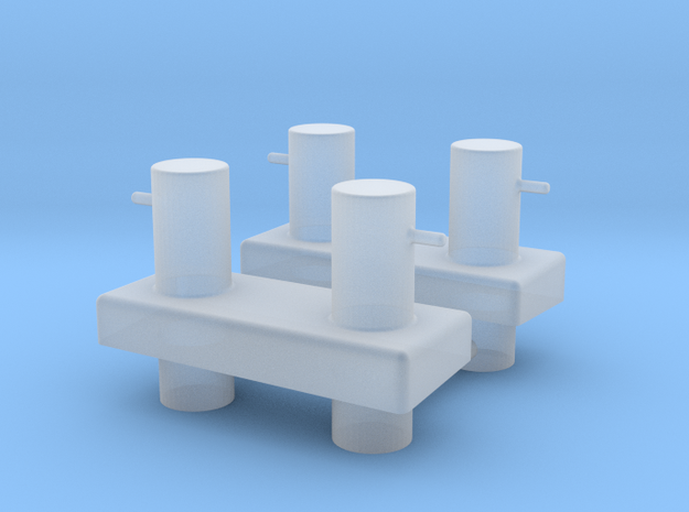 ASD 2810 - Bollard Aftdeck (2pcs) in Smooth Fine Detail Plastic